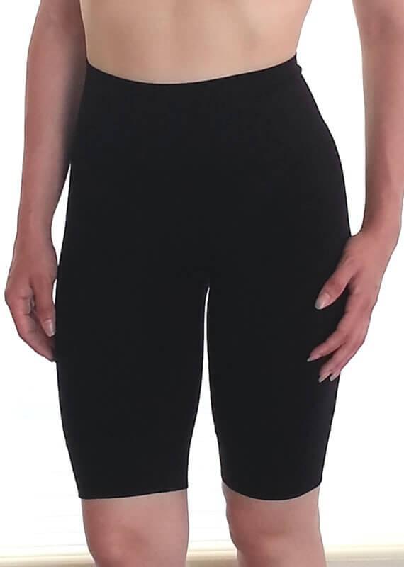 S381-Elita-Shape-mid-thigh-short-elita-black-front1-nowthatslingerie