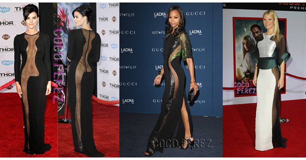 Sheer Celebrity Blog - Bra Doctor's Blog - Jaimie Alexander - Zoe Saldana - Gwyneth Paltrow