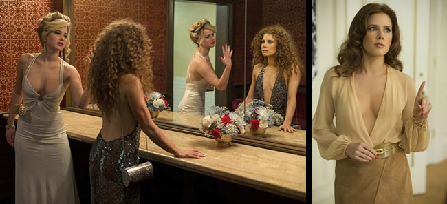 Jennifer Lawrence & Amy Adams in American Hustle, from right to left.