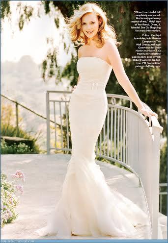 Katherine Heigl loved wearing shapewear under her wedding dress. Source: Glamour Magazine