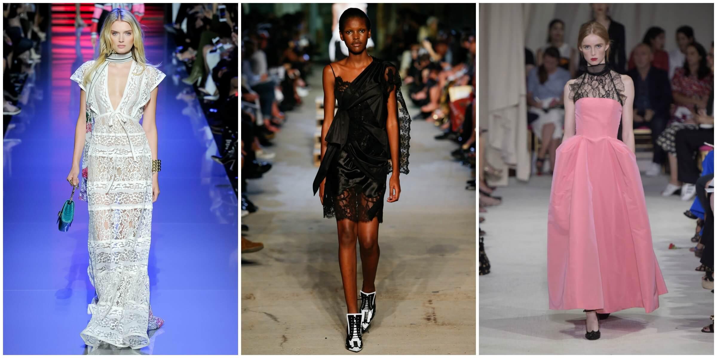 Elie Saab Spring 2016 via Vogue; Givenchy Spring 2016 via Vogue; Oscar De La Renta Spring 2016 via Glamour