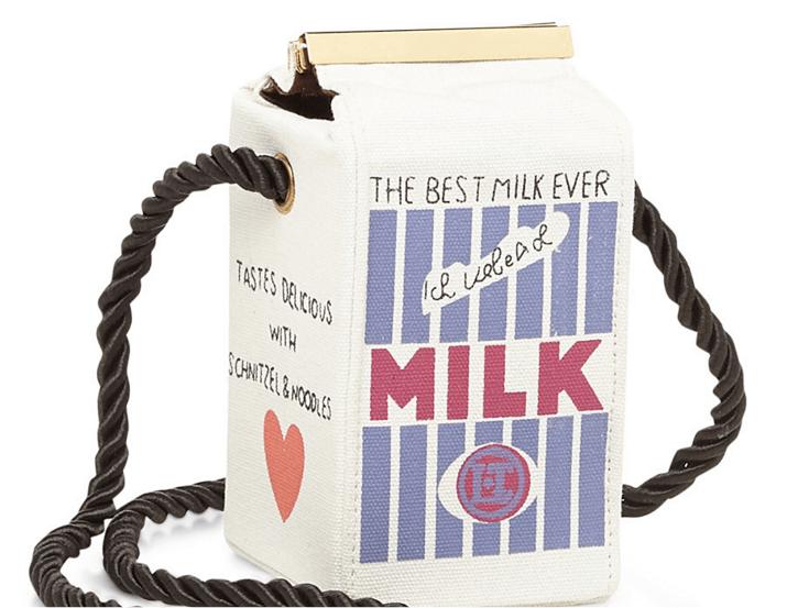 Milk Carton handbag via Simons