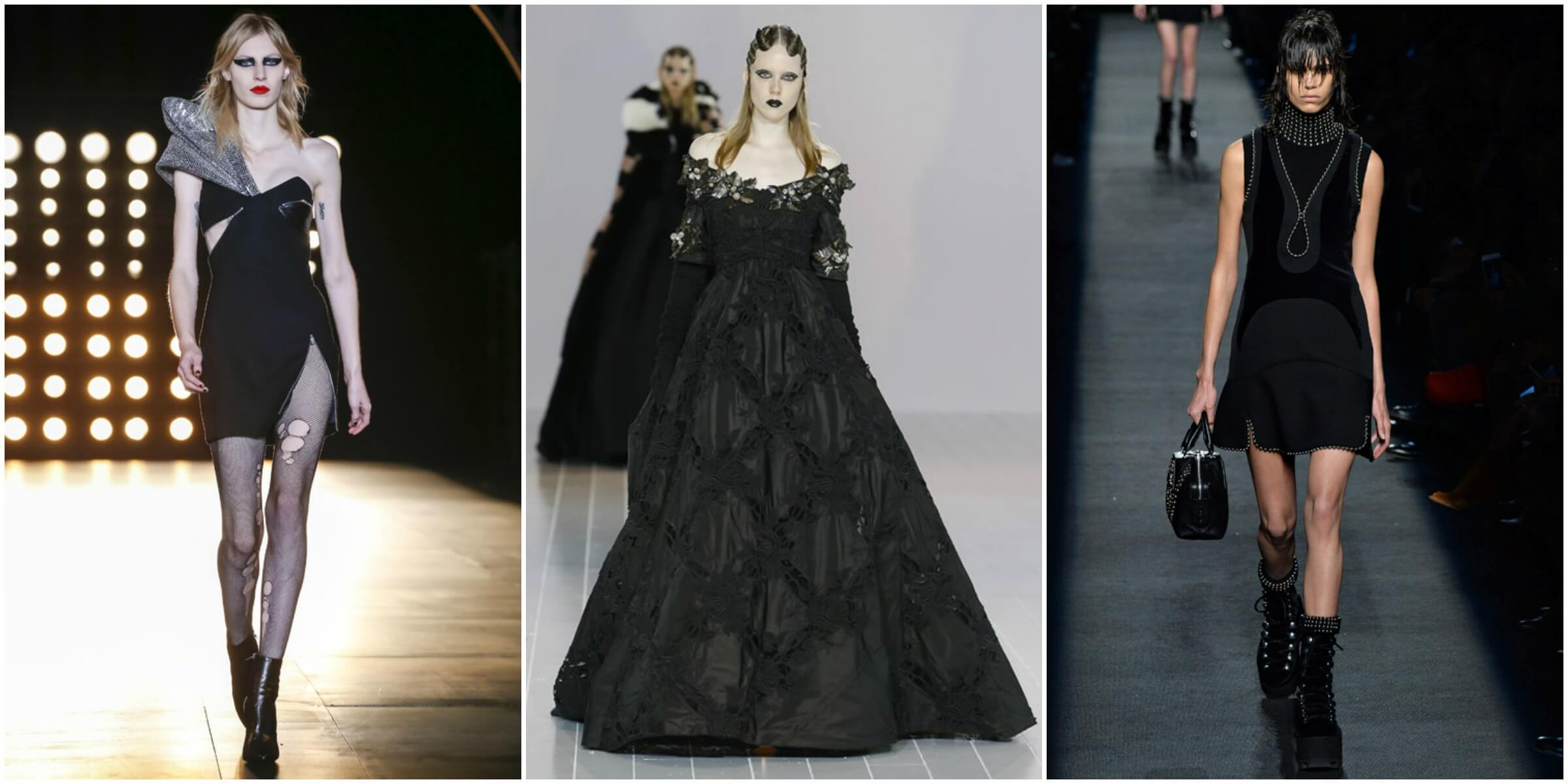 Saint Laurent FW16 via Vogue; Marc Jacobs FW16 via Vogue; Alexander Wang FW16 via Vogue