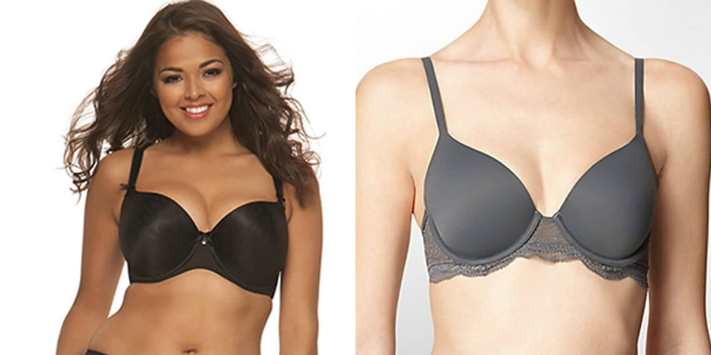 Smoothie Seamless Microfiber Moulded Balcony Bra by Curvy Kate; Perfectly Fit With Lace T-Shirt Bra by Calvin Klein