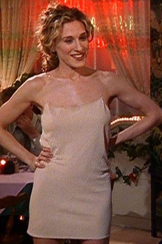 Carrie Bradshaw Naked Dress via Pinterest