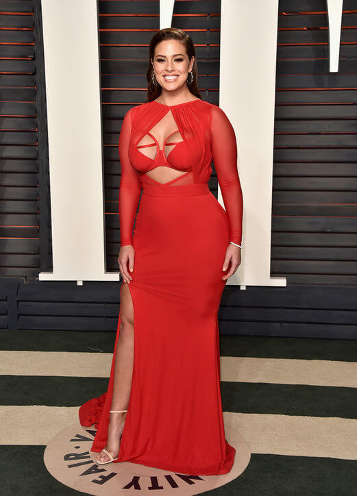 Ashley Graham proves anyone can look incredibly sexy in a cutout dress! Image via Glamour
