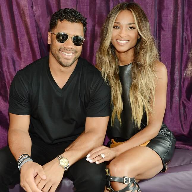 Ciara and her hubby via Glamour.