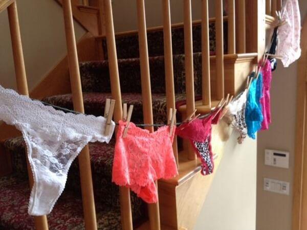 Lingerie Shower Decor Ideas via Meowchie