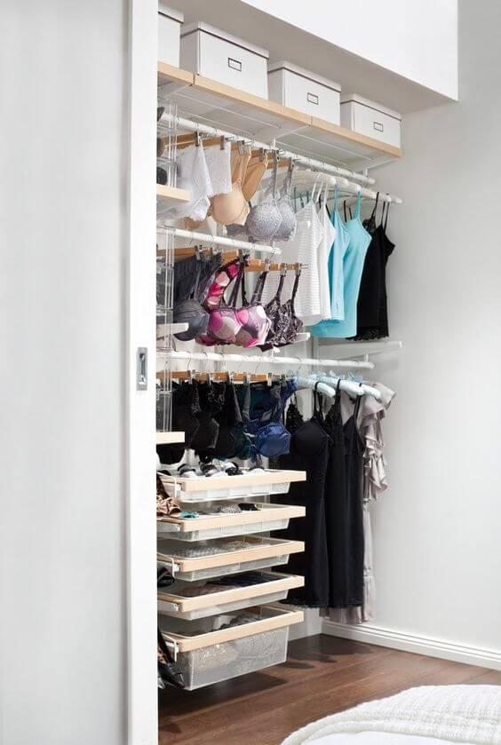 A dream lingerie closet via Polyvore