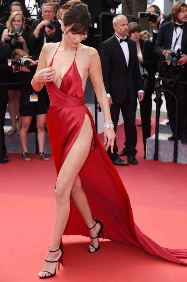 Bella Hadid's most talked about red carpet look at the Cannes Film Festival via Mirror