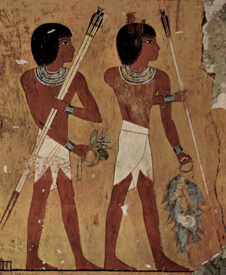 A depiction of the loincloth from Ancient Egypt via Pinterest