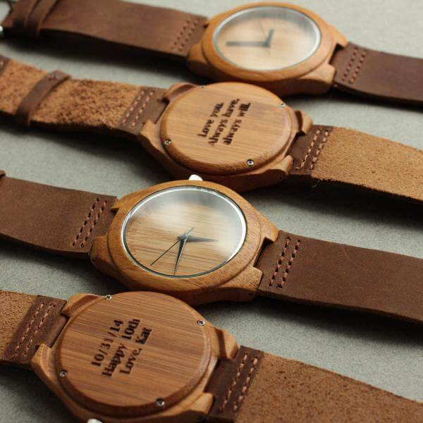 Customized Wooden Watch from Tree Hut