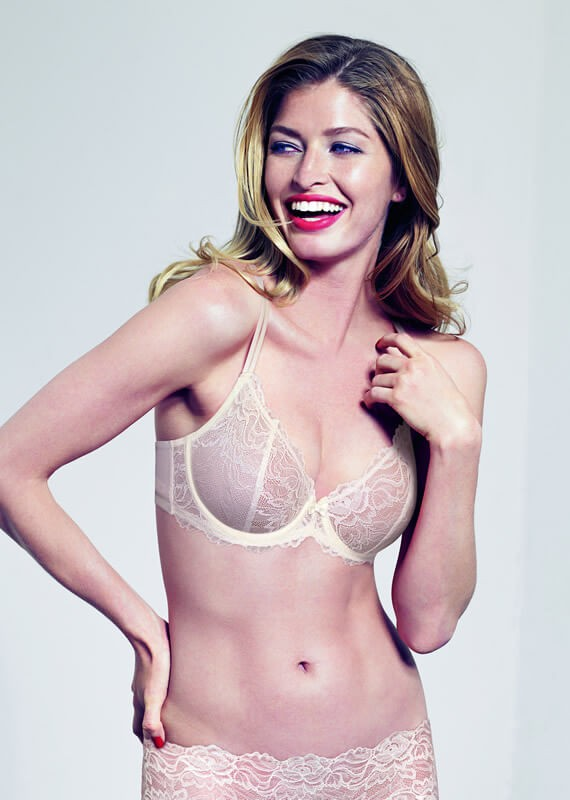 Forbidden Lace Semi-Sheer Balcony Bra by Triumph Lingerie