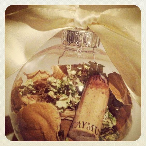 DIY Wedding Bouquet Ornament via Wedding Party App, found on Pinterest