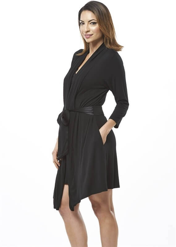 Inset Back Robe With Silk Ties by Fleur't