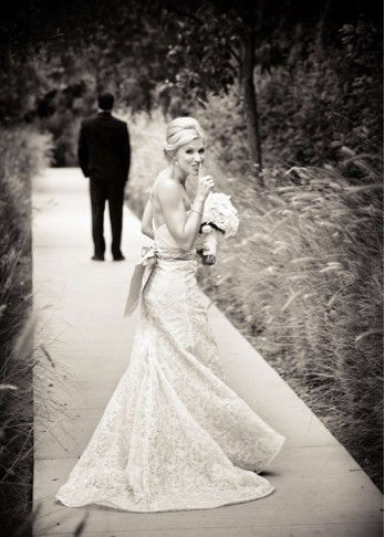 A cute photo before the wedding via Bridal Guide, found on Pinterest