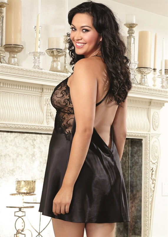 Queen Enticingly Sexy Chemise by Dreamgirl Lingerie