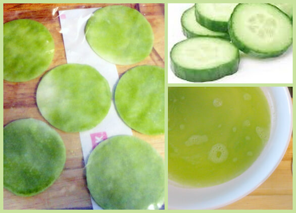 These DIY Frozen cucumber pads from The Beauty Bean can be made in batches, so you ALWAYS have some on hand!