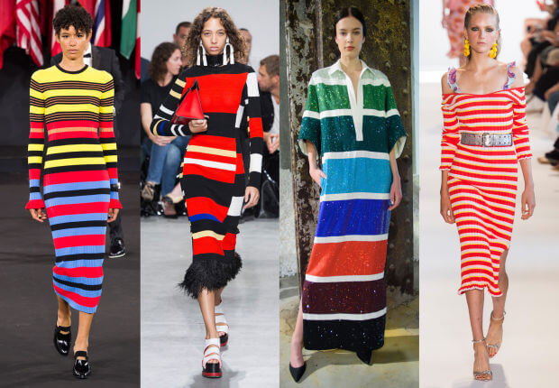 A series of striped runways looks curated by Fashionista