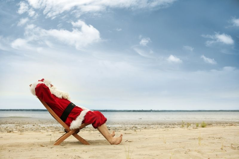 Santa takes a break and you should too!