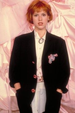 One of the queens of 80's fashion, Molly Ringwald, via Pinterest