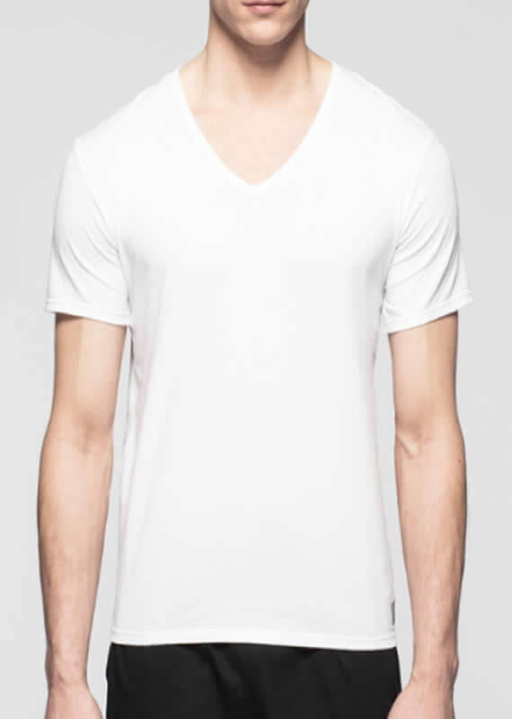 Ck One Cotton 2-Pack Short Sleeve V-neck by Calvin Klein