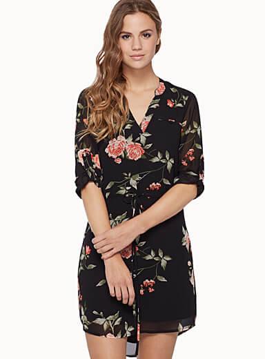 Voile Shirt Dress via Simons.ca