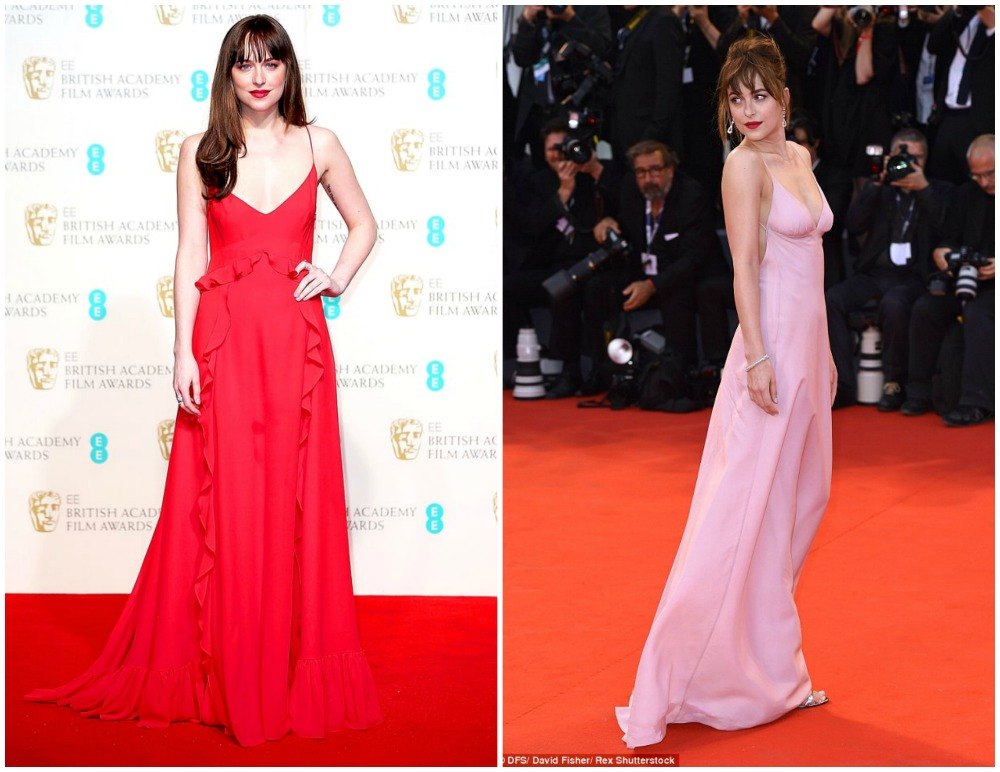 Here are some of the best looks Dakota has worn on the red carpet! Images via US Weekly & Daily Mail