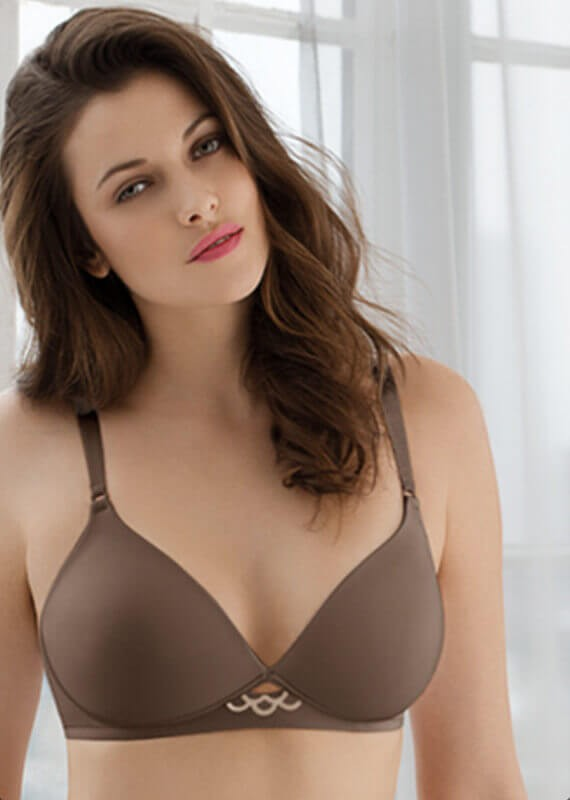 Too a Tee Wire Free Back Smoothing Contour Bra by Olga