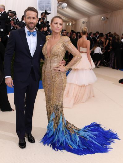 Mandatory Credit: Photo by David Fisher/REX/Shutterstock (8770824ge) Blake Lively and Ryan Reynolds The Costume Institute Benefit celebrating the opening of Rei Kawakubo/Comme des Garcons: Art of the In-Between, Arrivals, The Metropolitan Museum of Art, New York, USA - 01 May 2017
