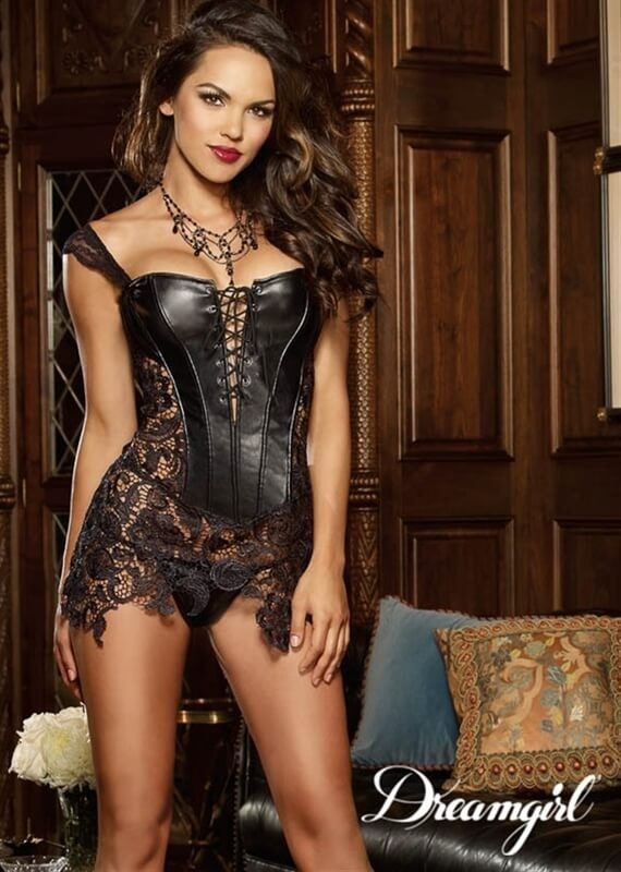 661cb55a20a 9367 Beyonce Inspired Faux Leather Corset By Dreamgirl Lingerie ...