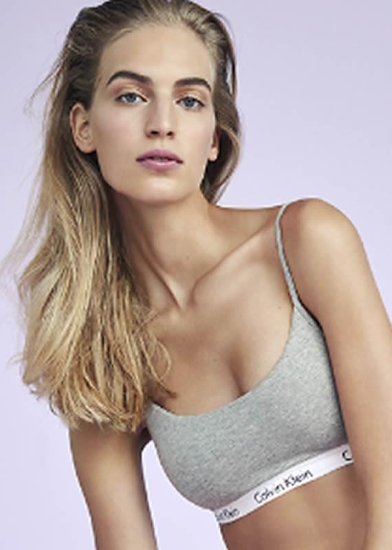 16b5fa312b Calvin Klein Modern Cotton Skinny Strap Bralette Qf1730