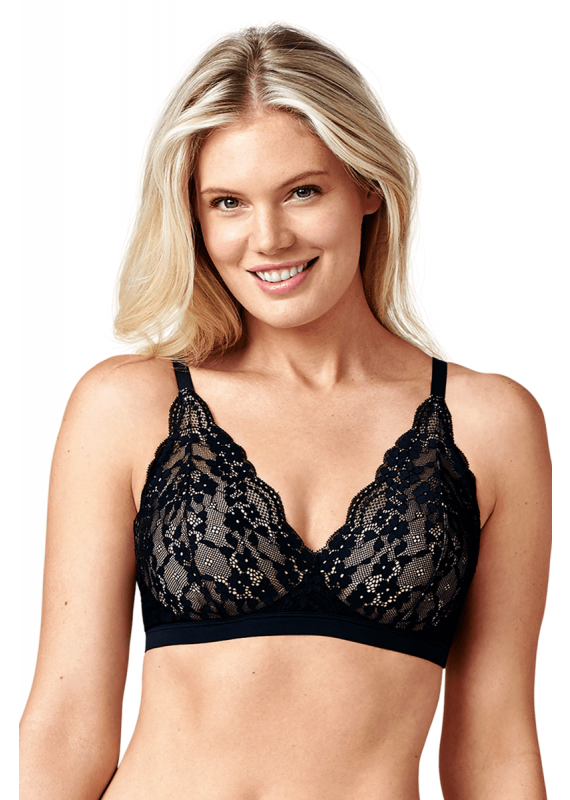 771bca48c5e Here in this bra is a combination of classic lace overlay and the triangle  cups that you ve been seeing everywhere.